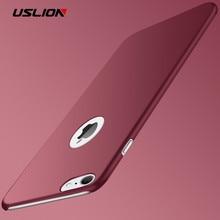 USLION Ultra Thin PC Matte Case For iPhone 7 6 Plus 5 5s SE Simple Plain Phone Back Cover Slim Coque iPhone7 6s