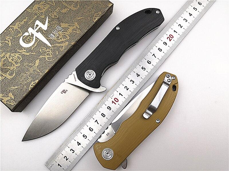 Folding Pocket Knife CH 3504 G10 Flipper D2 Blade G10 Handle Ball Bearing Utility Outdoor Camping
