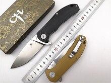 Складной карманный нож CH 3504 G10 Flipper D2 Blade G10, шариковый подшипник с ручкой, универсальный походный тактический нож, инструмент для повседневного использования