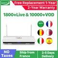 Caixa De IPTV France 1 QHDTV Leadcool Ano Código IPTV Espanha Francês França Bélgica Países Baixos Android 8.1 Caixa De TV Árabe IPTV Top Box