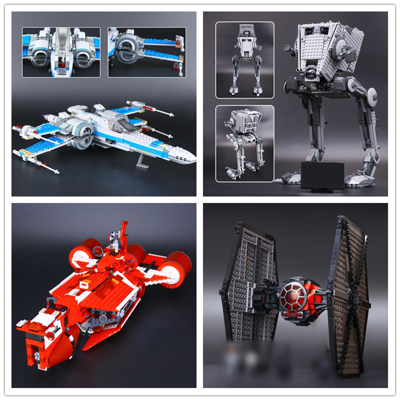 IN STOCK 05005 05052 05029 05070 Star Plan AT-ST Walker  X-wing Fighter Building Block Bricks Children Gifts 10174 75153 75101