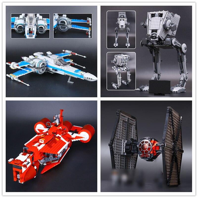 IN STOCK 05005 05052 05029 05070 Star Plan AT-ST Walker  X-wing Fighter Building Block Bricks Children Gifts 10174 75153 75101