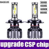 BAGELED H4 LED lamp H7 LED H11 H8 9006 9005 HB4 H1 H3 HB3 CSP 4500K Car Auto Headlight 50W 6000LM Low Beam Bulb Automobile Lamp