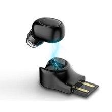 Bluetooth mini Earphone Handfree V4.1 USB 5V charging Car charging Noise Canceli