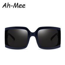Oversized Square Sunglasses Women Big Frame Brand Designer F