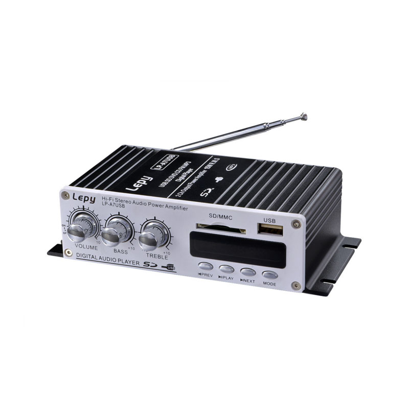 YWJJX Mini 2.0 Bluetooth Amplifier 2020 LP-A7 12V USB FM with Radio Remote Control Mini Home Amplifier Car Amplifier