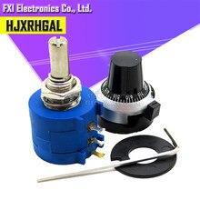 3590s-2 3590 s série precisão multiturn potenciômetro 10 anel resistor ajustável + 1 pçs voltas contagem dial rotativo botão de 6.35mm