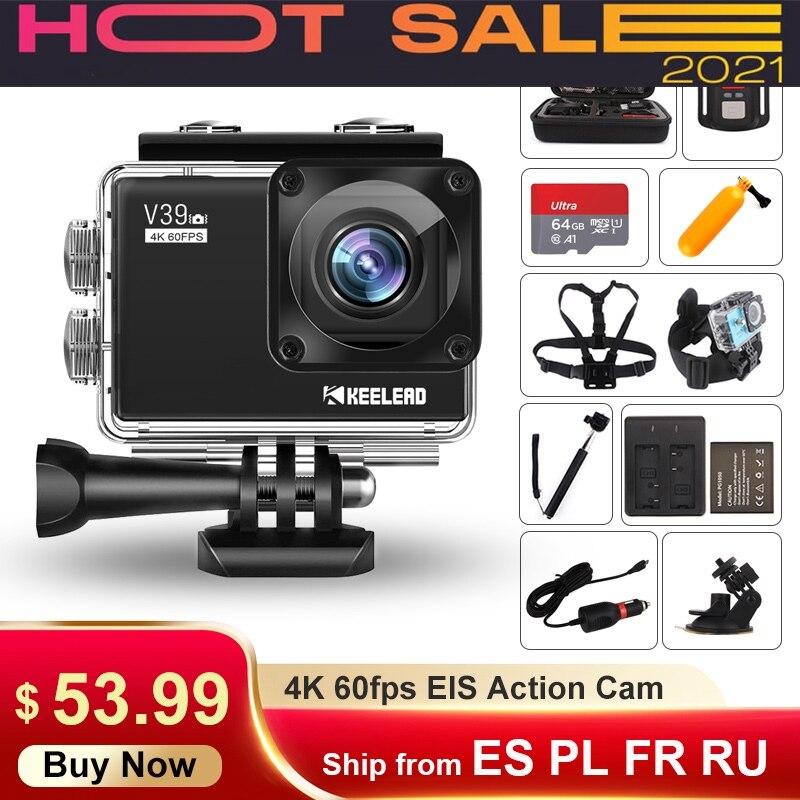 V39 Action Camera 4k 60fps 20mp Wifi Webcam 170d 2.0'' Lcd Eis Dual Mic Waterproof Pro Helmet Sport Cam Vs Ek7000