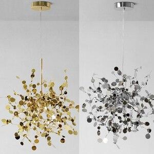 Image 2 - מודרני תליון אורות נירוסטה צל אוכל חדר תליון מנורת led luminaire suspendu מסעדת סלון לופט אור קבועה