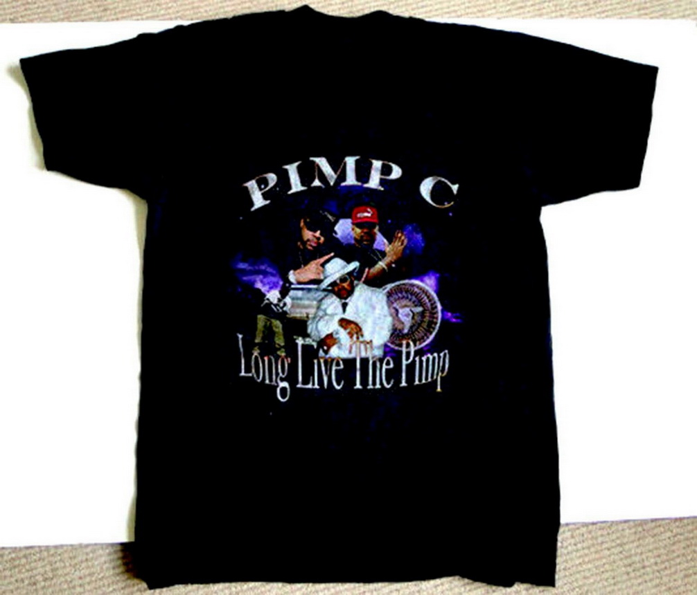 Vintage Inspired Pimp C Rap Tee REPRINT Tops Tee T Shirt Size S-2XL Confortable Tops T-Shirt image
