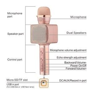 Image 4 - SU YOSD Ys 68 karaoke microfone com luz noturna na mão