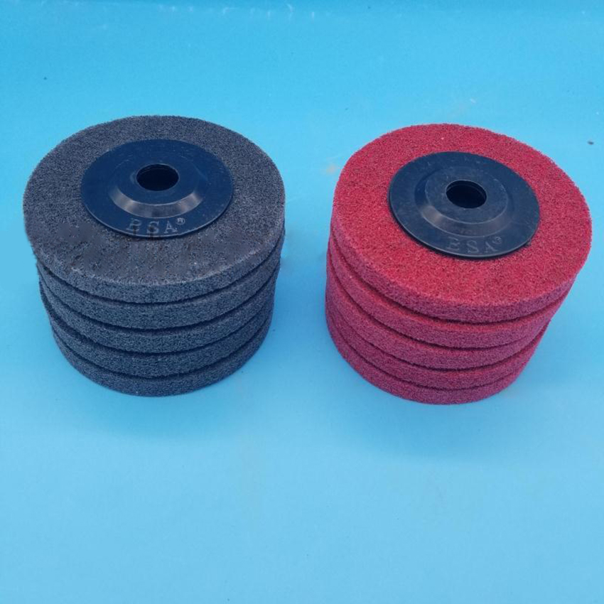Polishing Wheel For Bench Grinder Buffing Wheel 4 Inch Gray & Red Fiber Polishing Disc Pad Nylon Wheel Grinder Tool 100x16mm