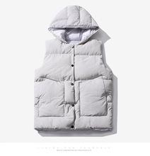 Mężczyźni M-3XL Parka kamizelka z kapturem zima jesień nowy gruby ciepły wiatrówka na co dzień Baggy ocieplana odzież wierzchnia kamizelka bezrękawnik tanie tanio Dihope CN (pochodzenie) COTTON Poliester zipper Male Overcoat Fashion Jacket Vest With Many Pockets Down Jacket Hat odpinany