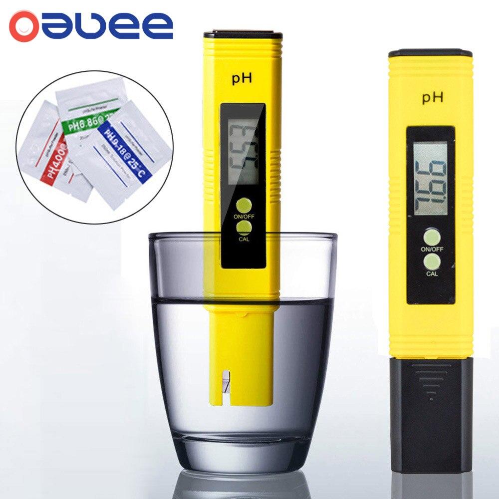Цифровой PH-метр Oauee с ЖК-дисплеем, Точность 0,01, для аквариума, бассейна, воды, вина, мочи, автоматическая калибровка