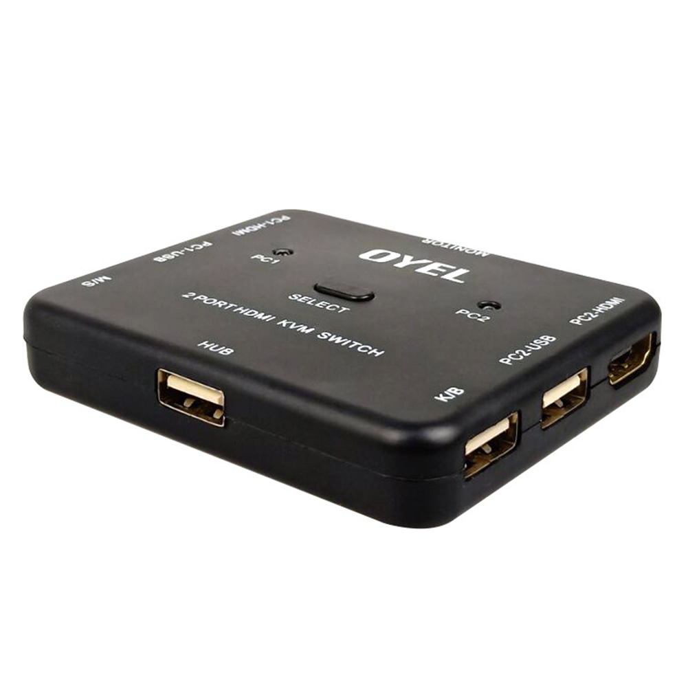 High Speed Universal Splitter For Scanner Portable Bi Direction Plug And Play Ultra HD Converter Stable 2 Ports Home HDMI Switch
