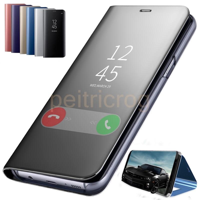 Умный зеркальный флип чехол для телефона Huawei Honor 8X P30 P20 Lite Mate 20 10 Pro Note 10 P Smart Z Y5 Y6 Y9 Y7 Prime 2019|Специальные чехлы|   | АлиЭкспресс