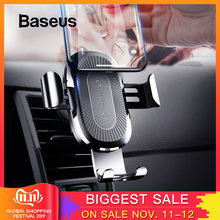 Baseus Qi Wireless Car Charger For iPhone XS XR Samsung S10 Wireless Charger 10W Fast Charging Car Phone Holder(China)