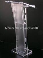 Darmowa wysyłka piękne łatwe tanie odpinany akrylowe Podium ambona podium Podium pleksi w Biurka do recepcji od Meble na