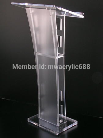 Free Shipping Beautiful Easy Cheap Detachable Acrylic Podium Pulpit Lectern Podium Plexiglass