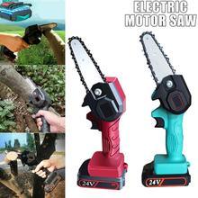 24V Rechargeable Mini Electric Chainsaw Wood Cutting EU Universal Chain Part Adjustable Bracket UK Chainsaw Saw Angle US Li C6N4