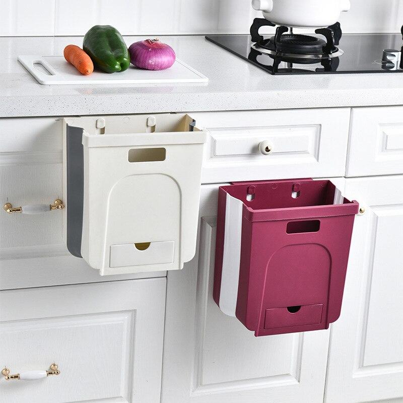 Складной мусорный бак, кухонный туалет, настенный мусорный бак для дома, гостиной, ванной комнаты, креативный Новый мусорный бак Мусорные баки      АлиЭкспресс