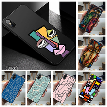Abstract FACES Art Phone Case Soft Cover Black for Iphone SE2020 11 Pro Max 6 7 8plus 5 X XS XR Xsmax and Samsung S10 S9 Series muhammad ali phone case boxing king black soft cover for iphone 11 pro max 6 7 8plus 5s x xs xr xsmax for samsung s10 series