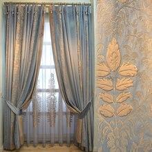 2021 lusso impiombatura ciniglia belle tende francesi di lusso americane per soggiorno camera da letto tende di velluto neo-classico