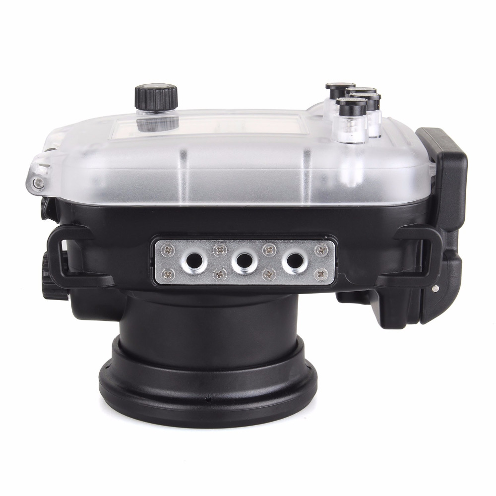 Image 4 - 40 متر/130FT تحت الماء كاميرا مقاومة للماء الإسكان الغوص الحال بالنسبة لكانون PowerShot G9X + 67 مللي متر الأحمر تصفيةcase for canonwaterproof camera housingwaterproof case for camera -