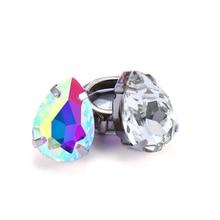цена на AB Color Fancy Stone With Copper Claws Drop Tear Shape Glass Rhinestones Wedding Dress Decoration Sew On Stones Crystal