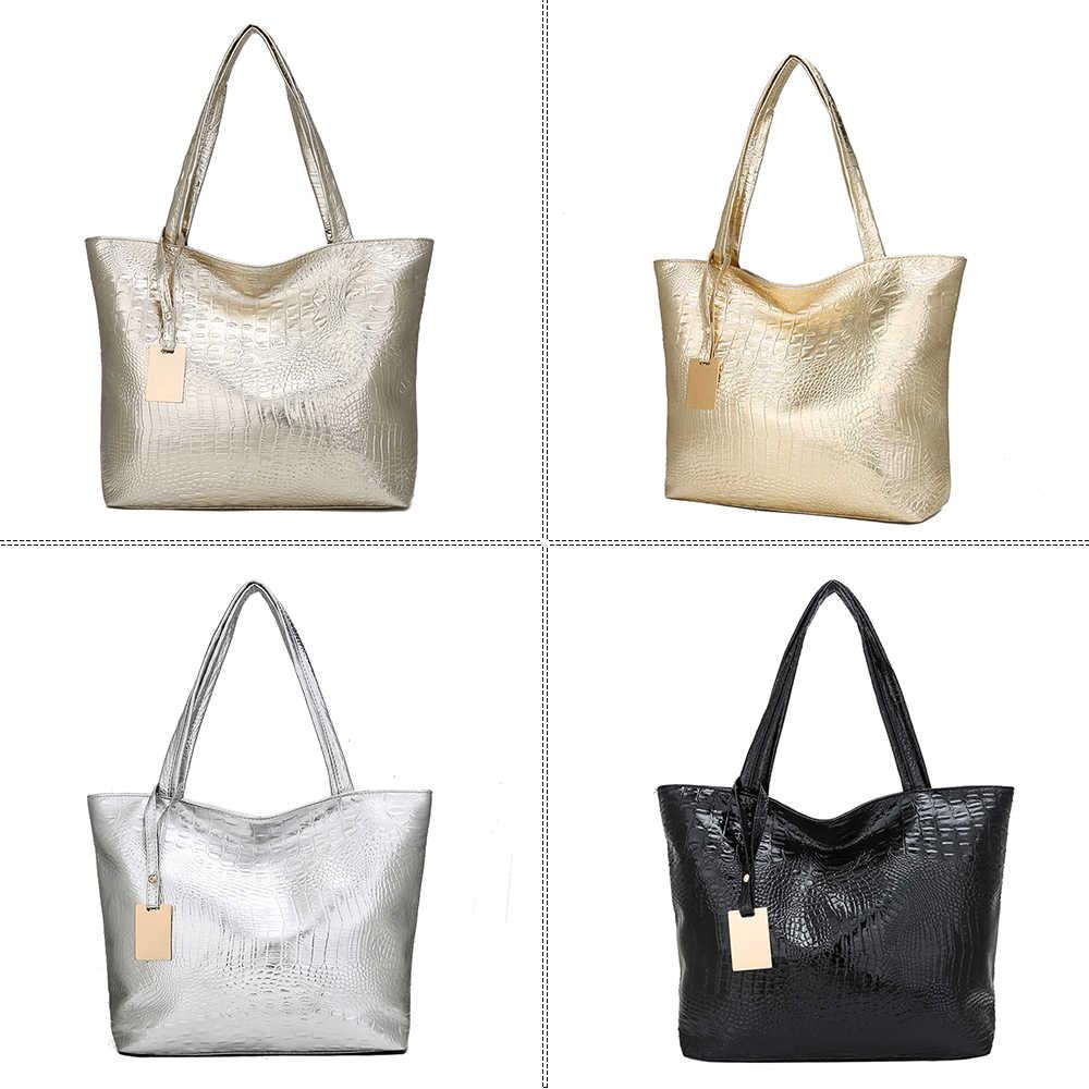 Herald mode femmes paillettes épaule en cuir sac à main rétro gaufrage en cuir dames sac à main grande femme fourre-tout sacs nouveau
