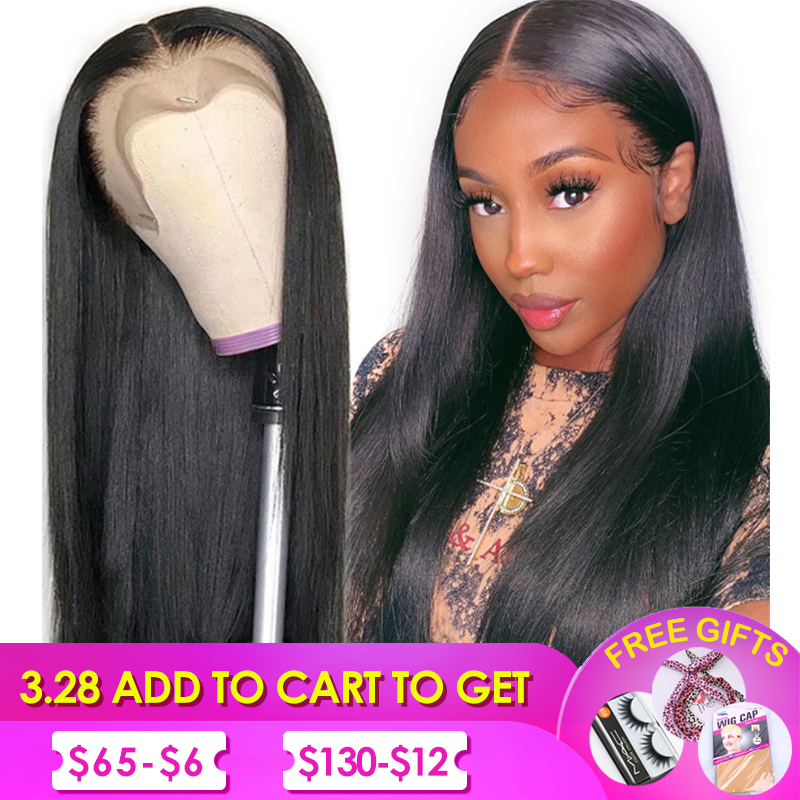 Lace Front Human Hair Wigs Silk Top Lace Front Wig Silk Base Wigs Brazilian Straight Human Hair Wig Pre Plucked Non Remy Hair