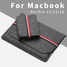 Acecoat 2020 luva saco caso pacote portátil anti risco capa para macbook ar/pro retina 13/15/16 barra de toque acessórios 2019 conjunto