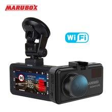 Marubox M660R Wifi Автомобильный видеорегистратор, радар-детектор gps 3 в 1 Dash Cam HD2560* 1440P угол 170 градусов видеорегистратор на русском языке