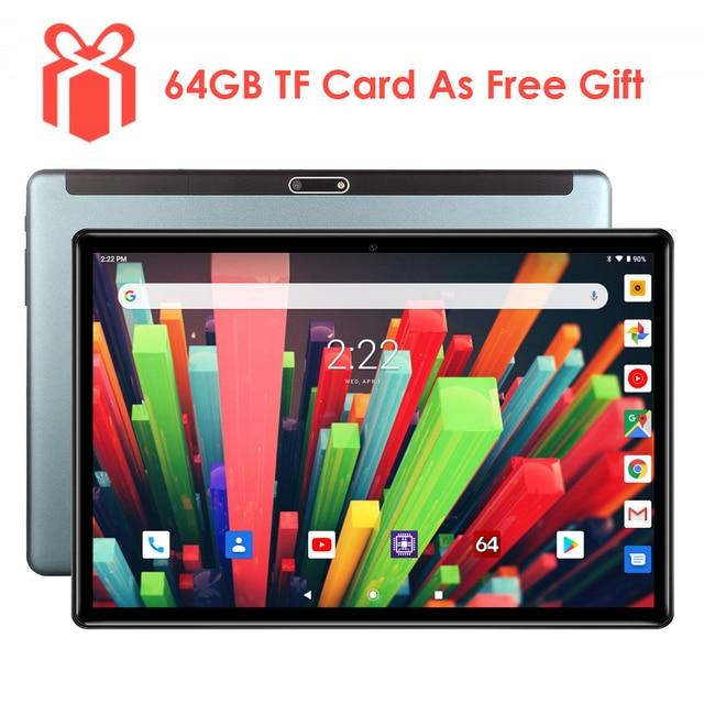 2020 neue 10 zoll 3G Telefon Tablet PC Quad Core 32GB eMMC Lagerung Dual SIM Karten 5,0 MP kamera 1280x800 IPS Androd 9,0 tablet 10