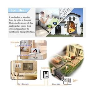 Image 2 - Système de sonnette vidéo, Kit dinterphone vidéo filaire 7 pouces avec surveillance, déverrouillage, interphone double voie pour villa