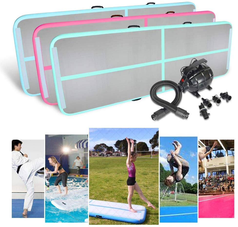 Free shipping 4M5M6M Inflatable Gymnastics AirTrack Tumbling Air Track Floor Trampoline for Home Use/Training/Cheerleading/Beach