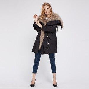Женское пальто с натуральным лисьим мехом, зимнее пальто с натуральным лисьим мехом, зимнее пальто, 2019