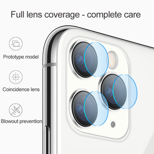 Image 2 - 2PCs Tempered Glass On For iPhone XS XR X 11 Pro Max Glass Camera Lens Screen Protector For iPhone 11 2019 Protective Glass Film