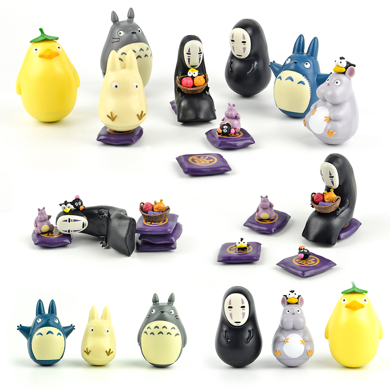 Japan capsule toys Spirited Away anime cartoon cute kawaii totoro no face man rat tumbler lind box gashapon figures desktop Toy