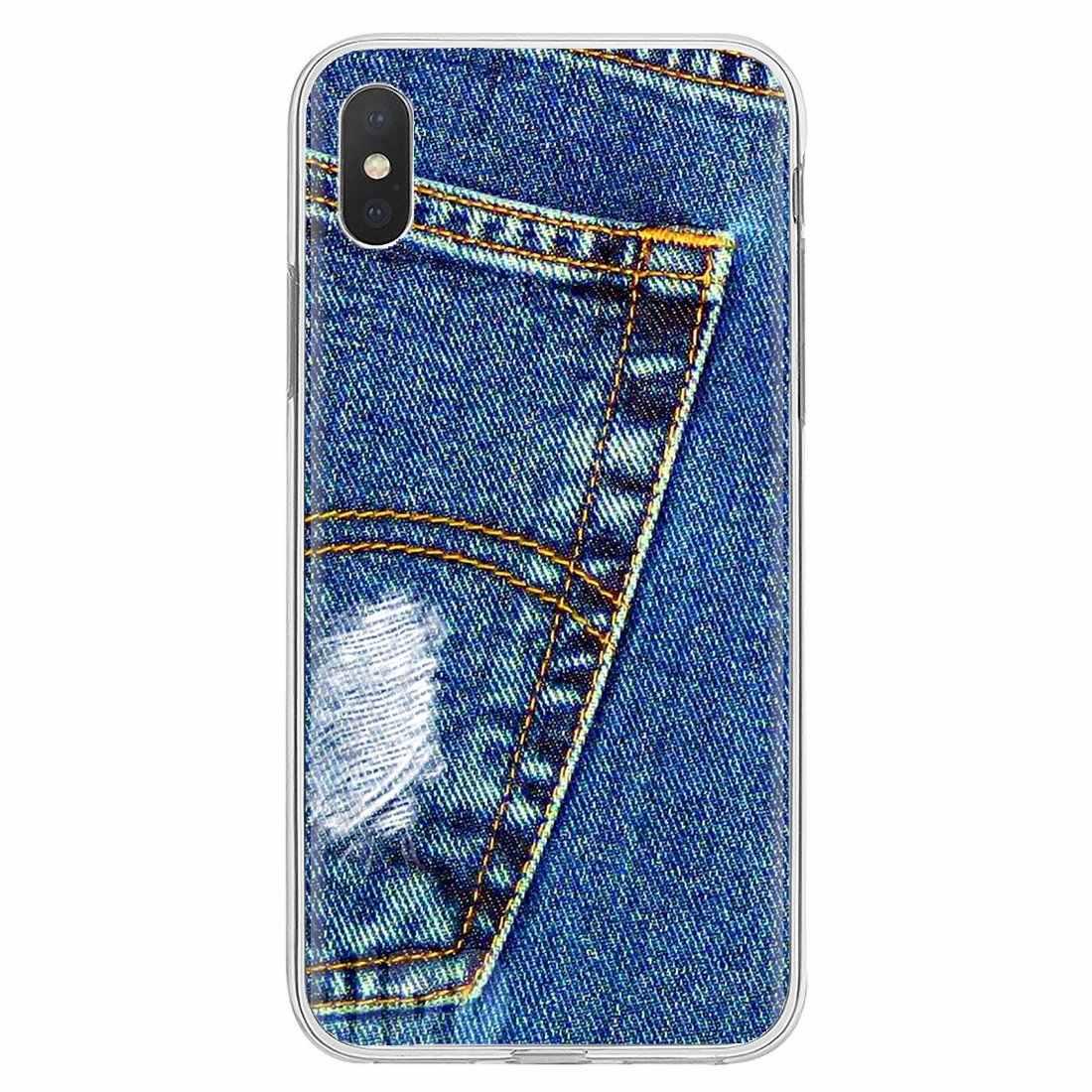 Jean Cowboy Denim imprimé style coque en Silicone couverture pour Samsung Galaxy Note 2 3 4 5 8 9 S2 S3 S4 S5 Mini S6 S7 bord S8 S9 Plus
