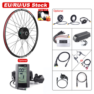 Bafang 48V 500W Front Hub Motor Brushless Gear Bicycle Electric Bike Conversion Kit for 20 26 27.5 700c inch Wheel Drive Engine(China)