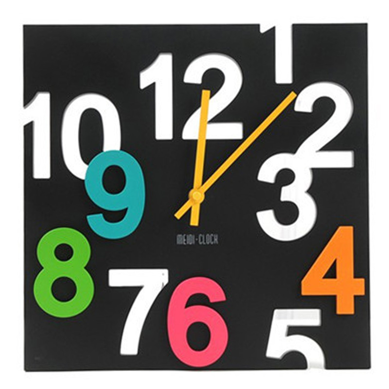 Fashion Hanging Wall Clock Modern 3D Novelty Silent Europe Style Hollow Design Table Clocks Wall Home Decor