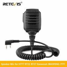 Retevis RS 114 IP54 مكبر صوت ضد الماء ميكروفون ل كينوود Retevis H777 RT22 RT3S RT81 Baofeng UV 5R UV 82 888S اسلكية تخاطب