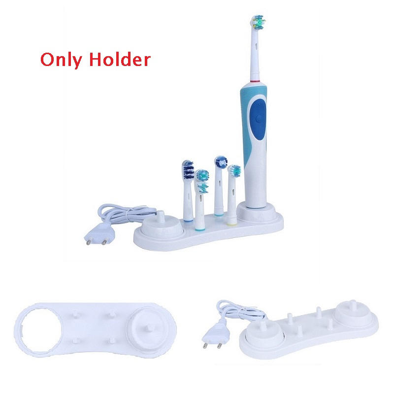 Electric Toothbrush Plastic Stander support White Holder with Charger Hole for Oral-B 3757 D12 D20 D16 D10 D36 image