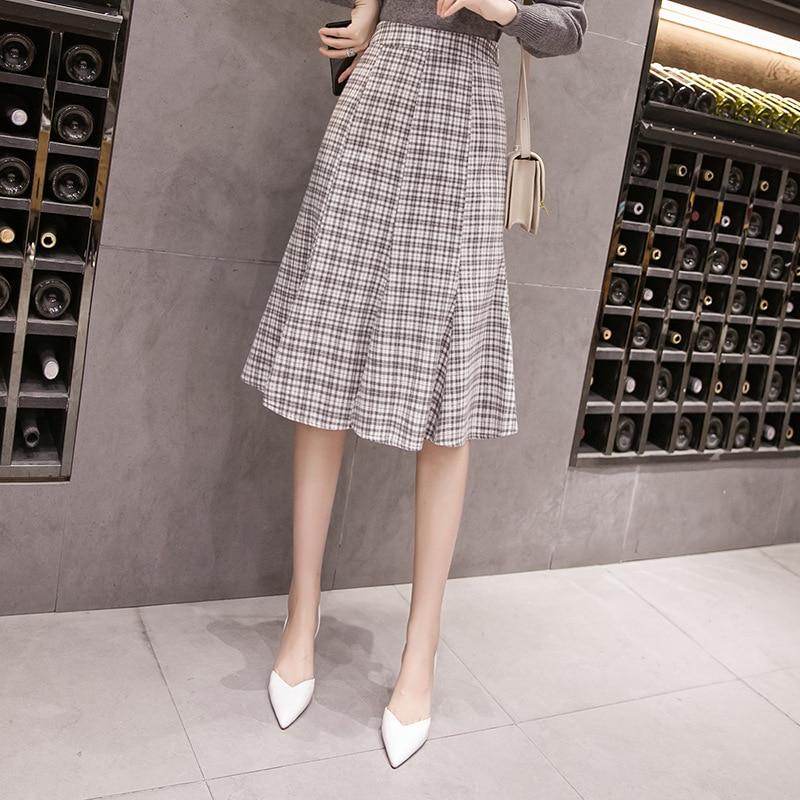 Photo Shoot 2019 Autumn And Winter New Style Fashion Fishtail Skirt Versatile Mid-length Skirt Children