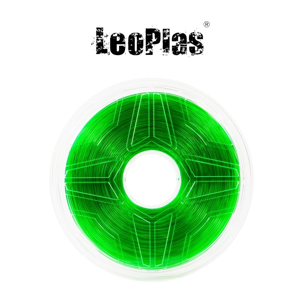 Liquidation vente aux etats-unis espagne entrepôt 1.75mm 1kg translucide vert PETG Filament 3D imprimante fournitures en plastique matériel d'impression