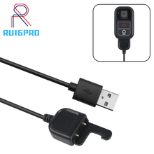 купить 50cm USB Charger Cable for GoPro Hero 7 6 5 WIFI Remote Control for Go Pro Wi-Fi Remoter Charging Action Camera Accessory по цене 181.72 рублей