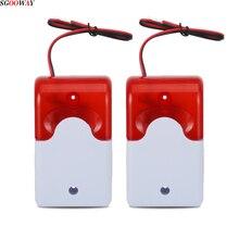 Sgooway luz estroboscópica LED para el hogar, sirena de 12V, funciona con GSM PSTN, sistema de alarma antirrobo por voz de seguridad