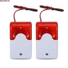Sgooway système dalarme de sécurité domestique, Flash LED, sirène lumineuse 12V, voix, compatible avec GSM/PSTN, anti cambriolage