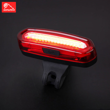 цена на Front Rear Bicycle Light Taillight Safety Warning USB Rechargeable Bike Light Tail Bicycle Lamp Lantern LED Flash Cycling Light